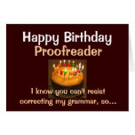 Happy Birthday Proofreader Greeting Card
