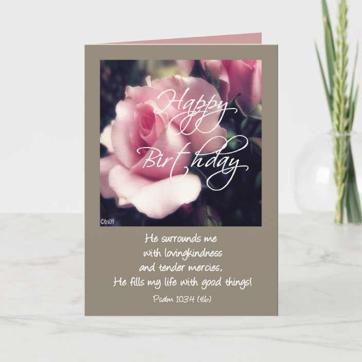Happy Birthday Psalm 103 4 Card Zazzle Com