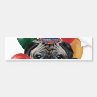 Happy birthday Pug dog Car Bumper Sticker
