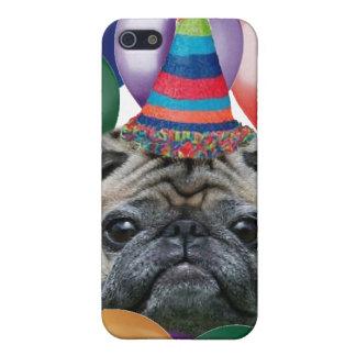 Happy birthday Pug dog iphone 4 speck case
