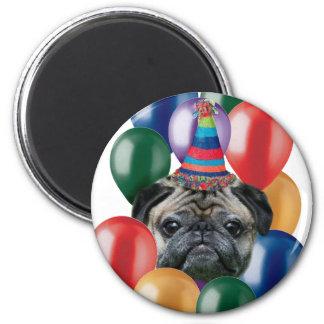 Happy birthday Pug dog Magnet