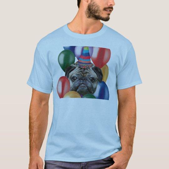 Happy birthday Pug dog T-Shirt