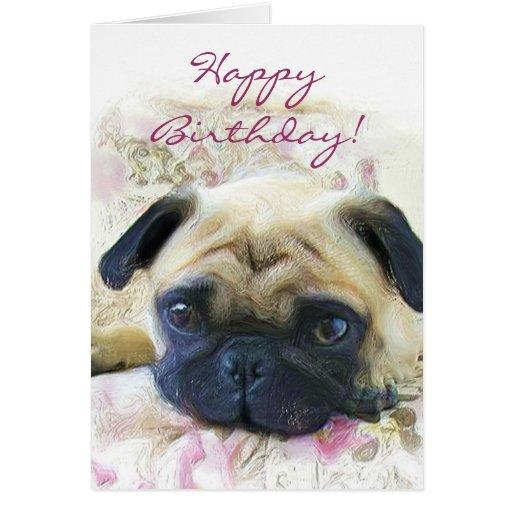Pug Birthday Cards Ebay Find Great Deals On Ebay For