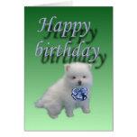 Happy birthday-puppy card