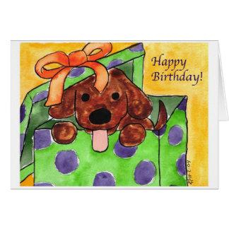 Happy Birthday Puppy Card