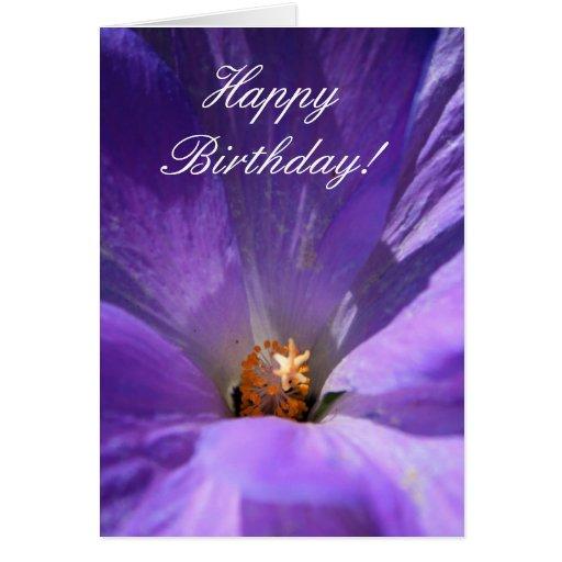 happy_birthday_purple_flower_greeting_card r59d8e6e3c66146aab9e7f66621597c0d_xvuat_8byvr_512