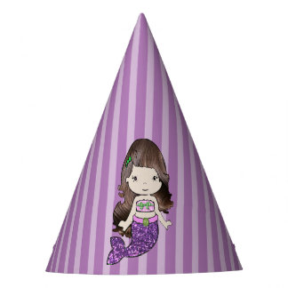 Happy Birthday Purple Mermaid Birthday Hat
