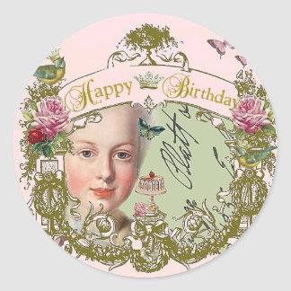 Happy Birthday Queenie!, French Inspired Stickers