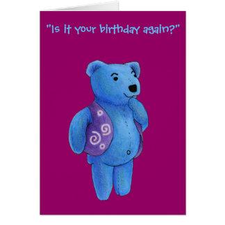 Happy Birthday - Quinn Teddy Bear Greeting Card