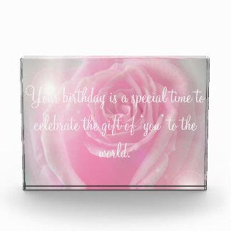 Happy Birthday Quotes & Pink Rose Award