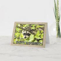 Happy Birthday Raccoon In Tree Card