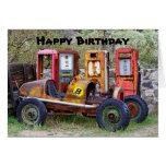 Happy Birthday Race Car Humor Greeting Card