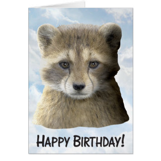 Happy Birthday Racket Front - Greeting Card