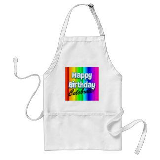 Happy Birthday Rainbow - Celebrate Cooking Apron