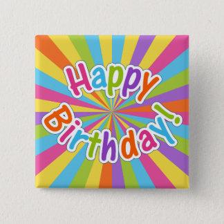 Happy Birthday Rainbow Energy Button