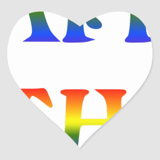 Happy Birthday Rainbow Heart Sticker