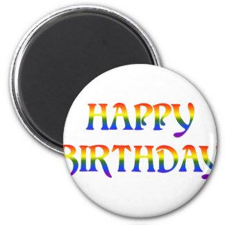 Happy Birthday Rainbow Magnet