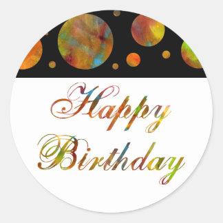 Happy Birthday Rainbow Sticker