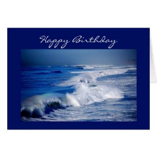 Happy Birthday Rainbows Over the Waves Card