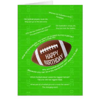 Happy birthday, really bad football jokes card