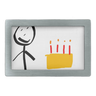 Happy Birthday Rectangular Belt Buckle
