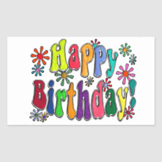 Happy Birthday Rectangular Sticker