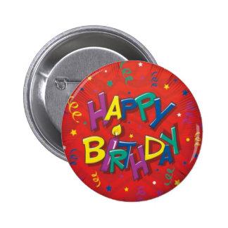 Happy birthday red button
