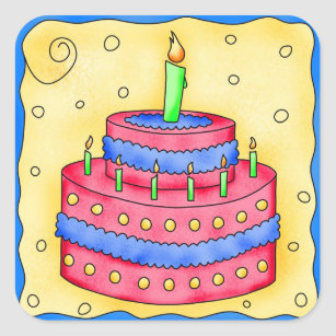 Birthday Cake Stickers Sticker Designs Zazzle