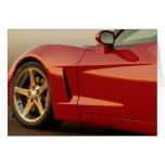 Happy Birthday Red Corvette Card