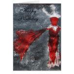 Happy Birthday (red dress) Cards
