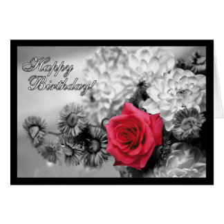Happy Birthday! Red Rose Card