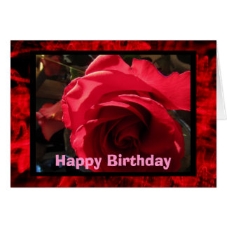 Happy Birthday Red Rose Card