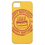 Happy Birthday -red rubber stamp effect- iPhone 5 Cases