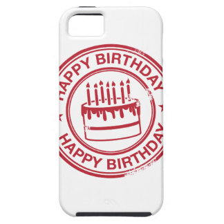 Happy Birthday -red rubber stamp effect- iPhone SE/5/5s Case