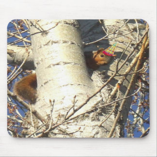 Happy Birthday Red Squirrel mousepad