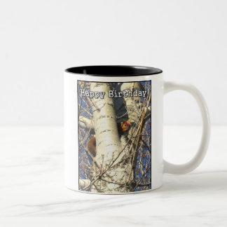 Happy Birthday Red Squirrel mug