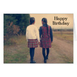 Happy Birthday - Retro IV Greeting Card