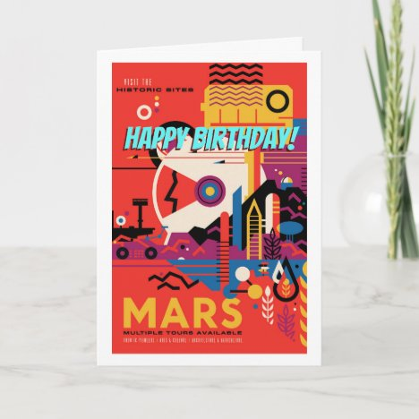 Happy Birthday! Retro Mars Historic Site Tour Card