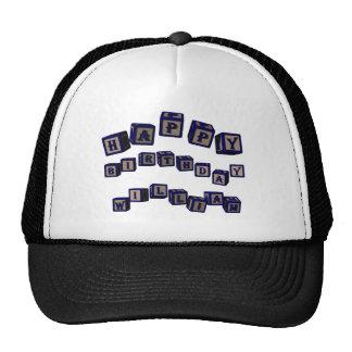 Happy Birthday Richard toy blocks in blue Trucker Hat