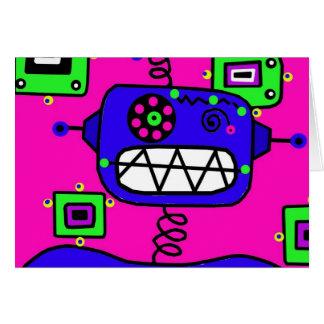 Happy Birthday Robot Greeting Card