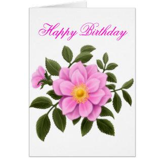 Happy Birthday Rose Card