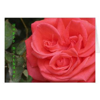 Happy Birthday Rose Flower Card