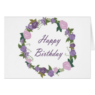 Happy birthday, Rose Garden Card