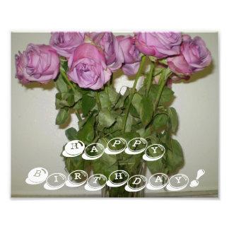 Happy Birthday Roses Art Photo