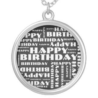 Happy Birthday Round Pendant Necklace