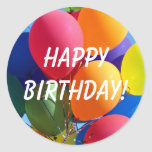 Happy Birthday! Round Stickers