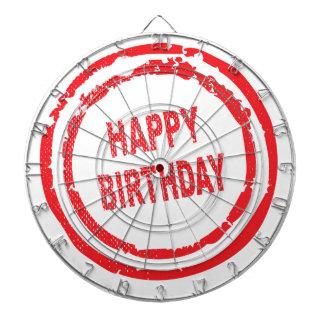 Happy Birthday Rubber Stamp Dartboards