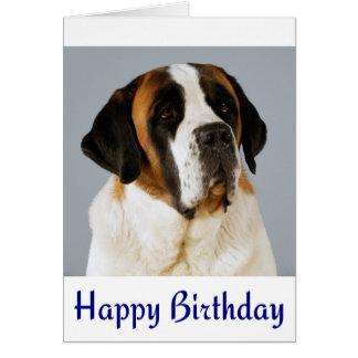Happy Birthday Saint Bernard Puppy Dog Card