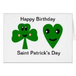 Happy Birthday: Saint Patrick's Day Greeting Card