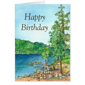 Happy Birthday Sand Harbor Lake Tahoe Painting Card